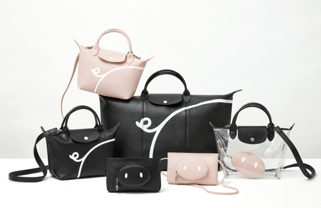 680bed9e9c47 Playful and irreverent year of the pig designs feature on the limited  edition Le Pliage Cuir series.